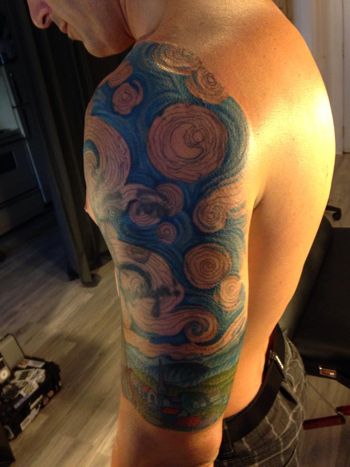 Starry Night Tattoo Shoulder Starry Night Tattoo